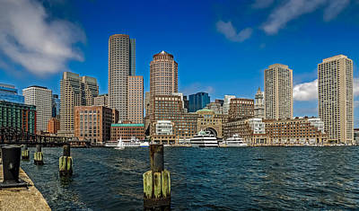 Boston Waterfront Skyline Art Print