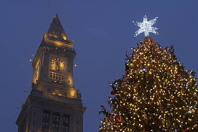 Boston Wishing You A Merry Christmas  Art Print by Juergen Roth