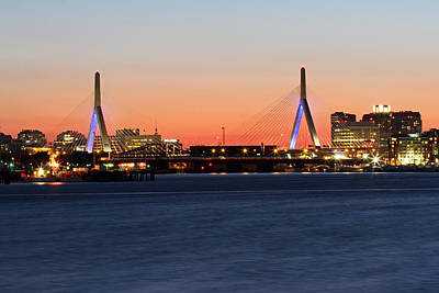 Charles River Photograph - Boston Zakim Bridge  by Juergen Roth