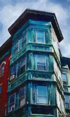 Painting - Boston's North End by Jeffrey Kolker