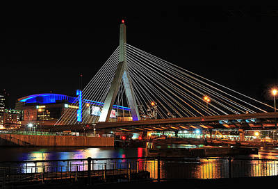 Print featuring the photograph Boston's Zakim-bunker Hill Bridge by Mitchell R Grosky