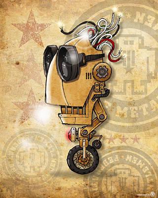 Bot Digital Art - Bot 001 by Chip David