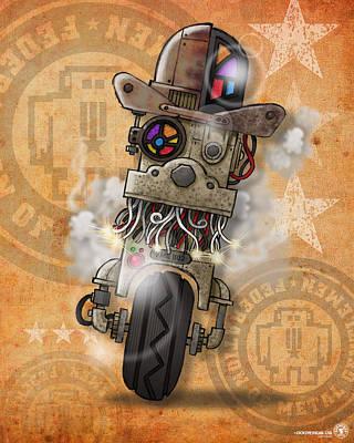 Bot Digital Art - Bot 002 by Chip David