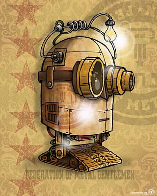 Bot Digital Art - Bot 003 by Chip David