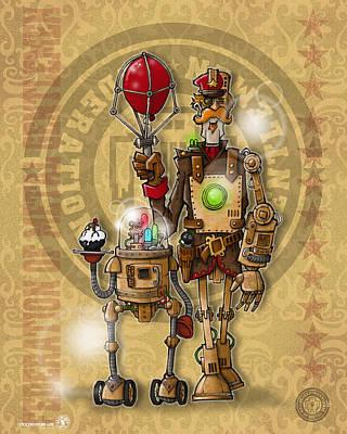 Bot Digital Art - Bot 004 by Chip David