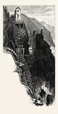 Botallack Mine, Uk, Britain, British, Europe Art Print by English School