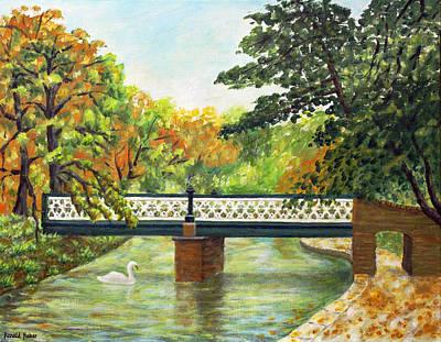 Bridge Painting - Botanic Gardens Churchtown Southport by Ronald Haber