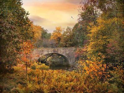 Tree Ferns Digital Art - Botanical Bridge by Jessica Jenney