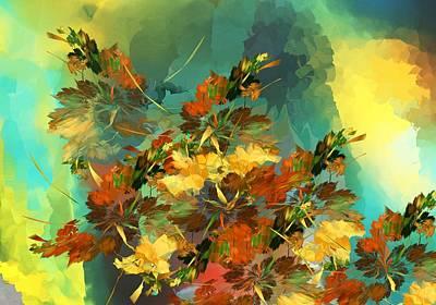 Print featuring the digital art Botanical Fantasy 090914 by David Lane
