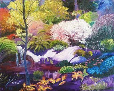 Painting - Botanical Garden Paradise by Rivkah Singh