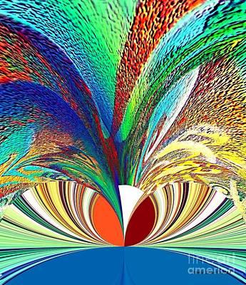 Digital Art - Botanical Gardens Abstract Art by Annie Zeno