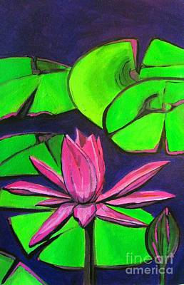 Painting - Botanical Lotus 1 by Grace Liberator