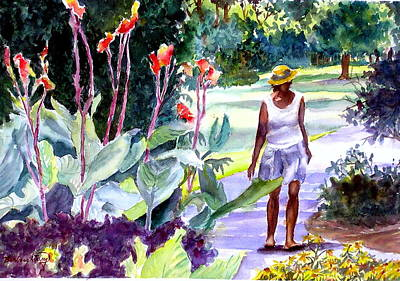 Botanical Stroll Original by Barbara Jung