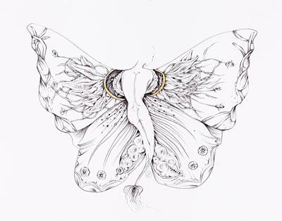 Drawing - Botanicalia Vanessa by Karen Robey