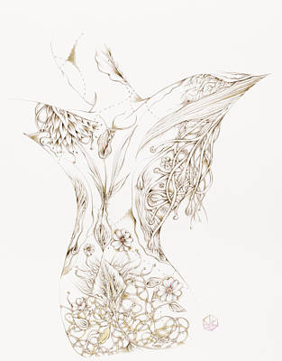Drawing - Botanicalia Cynthia by Karen Robey