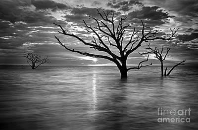 Botany Bay Sunrise 6 Black And White Art Print