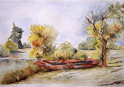 Bote Viejo Art Print
