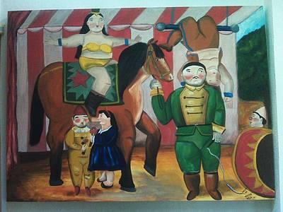 Amazing Stories Painting - Botero Circus by Vickie Meza