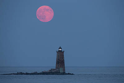 Supermoon Photograph - Both The Supermoon And Whaleback by Robbie George
