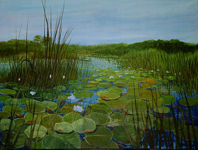 1920s Flapper Girl - Botswana Lagoon by Maryann Boysen