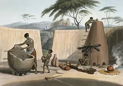 Southern Pottery Photograph - Botswana Women Making Pots, 1800s by British Library