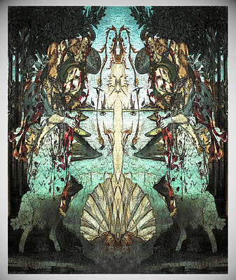 Digital Art - Botticelli Flipped 1 by Zac AlleyWalker Lowing