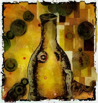 Bottle A La Klimt Art Print by Gun Legler