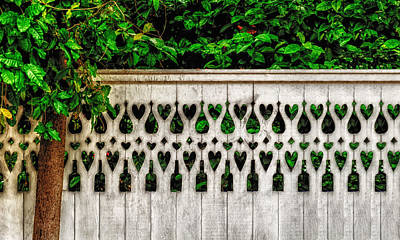 Photograph - Bottle And Heart Fence by Frank J Benz