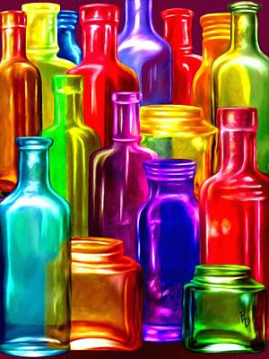Digital Art - Bottle Bounty by Ric Darrell