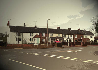 Bottle Brook Houses, Situated At A T-junction Art Print