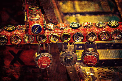 Bottle Cap Art Photograph - Bottle Caps And Locks by Maria Angelica Maira