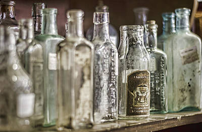 Bottle Collection Print by Heather Applegate