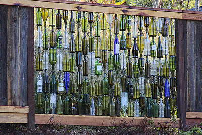 Photograph - Bottle Fence by Wes Jimerson