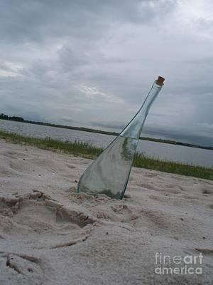 Glass Bottle Photograph - Bottle Line by Heather Duncan