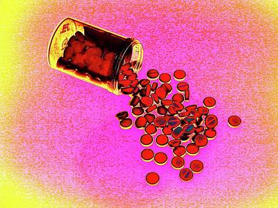 Pill Photograph - Bottle Of Pills by Larry Berman