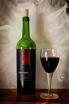 Vino Photograph - Bottle Of Red by Lisa Hurylovich