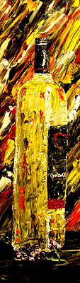 Opus One Painting - Bottle Of Wine  by Mark Moore