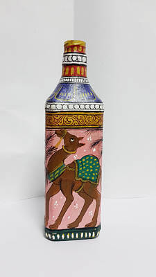 Painting - Bottle Painting  by Art Tantra