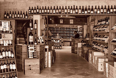 Vino Photograph - Bottle Shop Toned by Georgia Fowler
