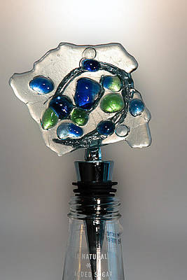 Crush Creations Glass Art - Bottle Stopper 01 by Crush Creations