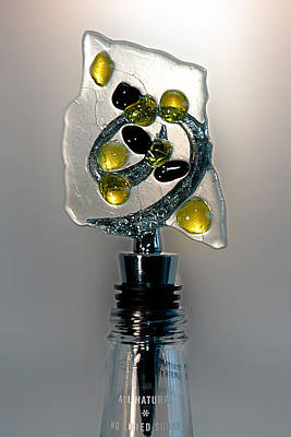 Crush Creations Glass Art - Bottle Stopper 04 by Crush Creations