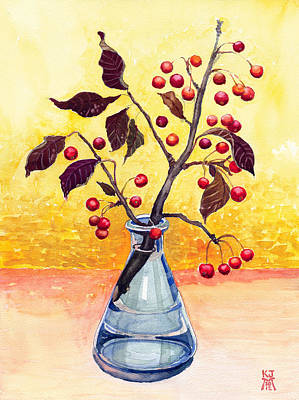 Bottled Autumn Art Print by Katherine Miller