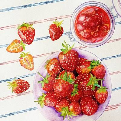 Painting - Bottled Strawberries by Sonali Sengupta