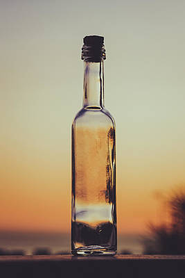 Photograph - Bottled Sunset by Marco Oliveira