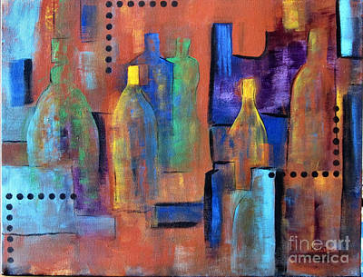 Painting - Bottles 1 by Karen Day-Vath