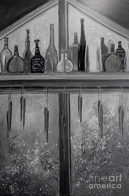 Painting - Bottles And Candles by Gretchen Allen