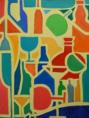 Bottles And Glasses 2 Art Print by Ana Maria Edulescu