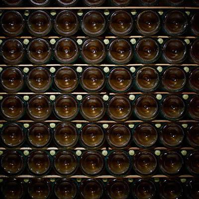 Photograph - Bottles. Ca Del Bosco Winery. Franciacorta Docg by Jouko Lehto