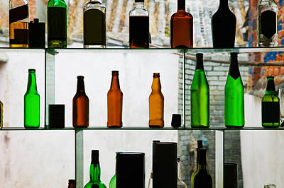 Dali Photograph - Bottles Displayed At Foreigner Bar, Old by Panoramic Images