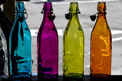 Photograph - Bottles In A Window by Robert Woodward